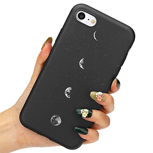 LLZ.COQUE Handyhülle Kompatibel mit iPhone 7/8/SE 2020 Hülle Gänseblümchen Schutzhülle TPU Hülle Slim Hülle Cover Mond matt Handyhülle für iPhone 7/8/SE 2020 Hülle Mond