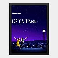 ハンギングペインティング - ララランド La La Land 5のポスター 黒フォトフレーム、ファッション絵画、壁飾り、家族壁画装飾 サイズ:33x24cm(額縁を送る)