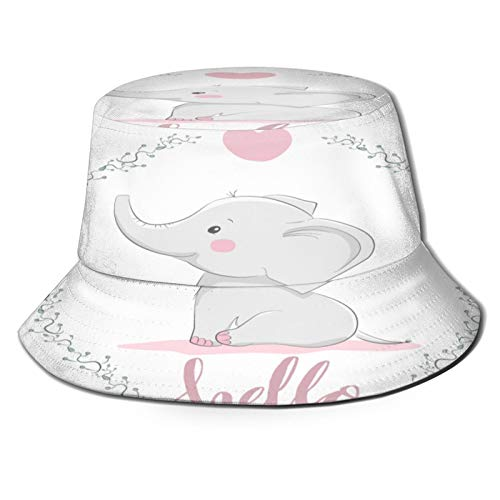 PUIO Sombrero de Pesca,Ilustración Vector Lindo Elefante Ropa Bebé,Senderismo para Hombres y Mujeres al Aire Libre Sombrero de Cubo Sombrero para el Sol