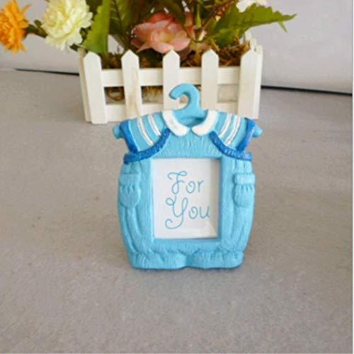 FEF DIY Mini Personalidad Resina Resina Foto Marco de Fotos Venta al por Mayor Ropa Azul bebé Foto Marco Marco Dibujos Animados, Azul