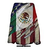 Opiadco Haircut Cape Proud Mexican American Flag Barber Supplies Tool Set Salon Hair Cutting Cloth Apron Cape Hairstylist Hairdring Capes 55 X 66 in