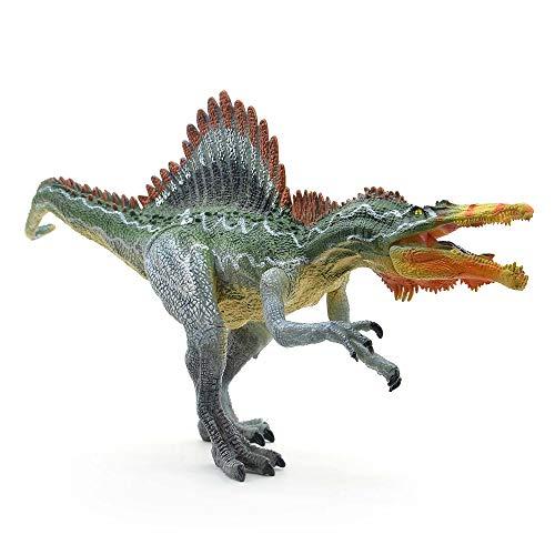 Kolobok Dinosaur Toys Park - Dino World Model - Jurassic Action Figures Spinosaurus Great Predator – Green and Orange