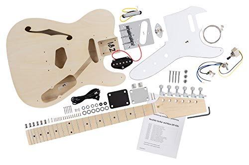 Rocktile DIY Hollowbody TL Bausatz E-Gitarre -
