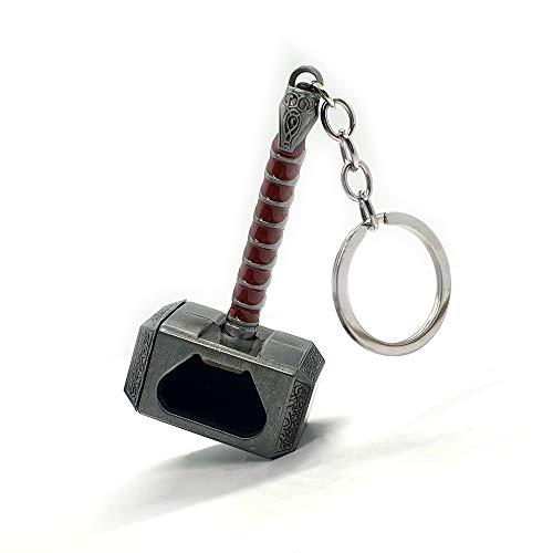 Avengers Thors Hammer Mjolnir Bottle Opener Keyring Keychain Unofficial Bottle Opener Keyring Marvel Keychain Keyring Silver, Gold, Brown (Brown)