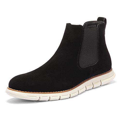 Bruno Marc Men's Uptown-2 Black/Uptown-2 SuedeChelsea Boots Casual Ankle Shoes Size 10.5 M US