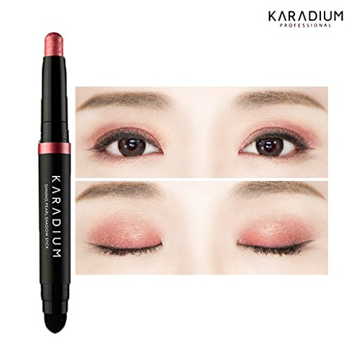KARADIUM Shining Pearl Smudging Eye Shadow Stick, 1.4 g, #10 Reddish Pink