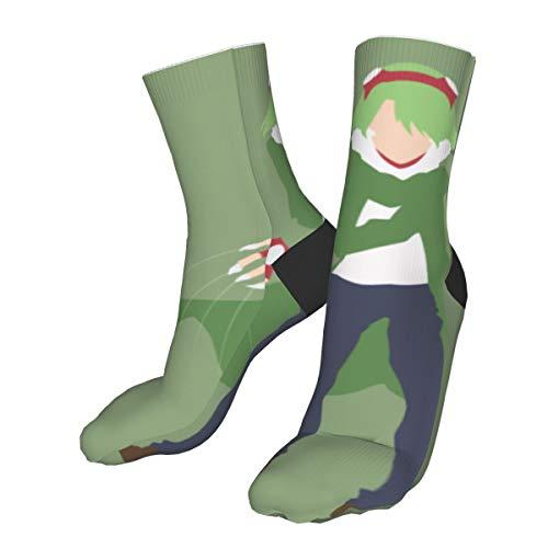 Wfispiy Akame Ga Kill Lubbock Anime Crew Socks - Men's Medium Cushioned Performance Socks