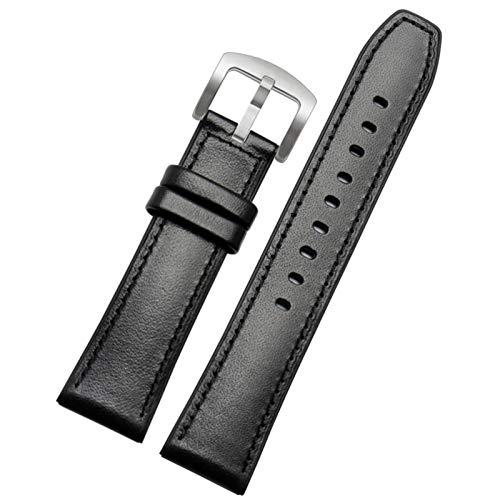 DXFFOK Ajuste para Huawei Watch GT 2 Bandas 46 mm para TicWatch Pro 22mm liberación rápida de Cuero Genuino de Cuero de Silicona Reloj híbrido Reloj de Reloj de Reloj