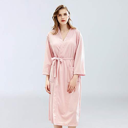 ROirEMJ Damen Bademantel,Frauen Bademantel Waffel Dusche Rosa Sleepwear Nachthemden...