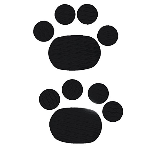 MonkeyJack 10 Pieces Premium Oval Round EVA Dog SUP Surf Stand Up Paddleboard Traction Pad Deck Grip Mat - Non-Slip, Self Adhesive & Durable - Black