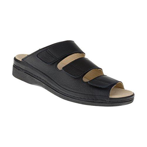 Tessamino Damen Orthopädie Sandalen aus Leder | Weite H | für Einlagen