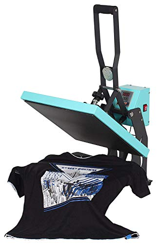 RICOO T438M-TB Transferpresse mit Öffnungsautmatik Textilpresse Textildruckpresse Klappbar Thermopresse Transferdruck Bügelpresse Textil T-Shirtpresse Sublimationspresse/Türkis-Blau - 7