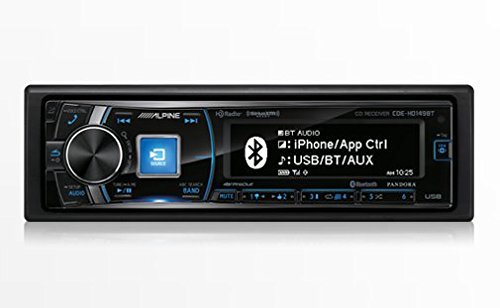 Alpine CDE HD149BT Single Din Bluetooth SiriusXM