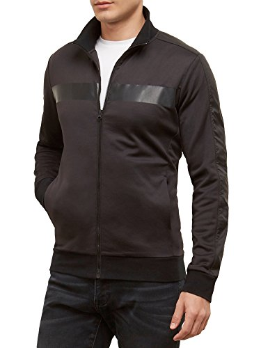 Kenneth Cole REACTION Men's Mesh Track Jacket, Black, Small