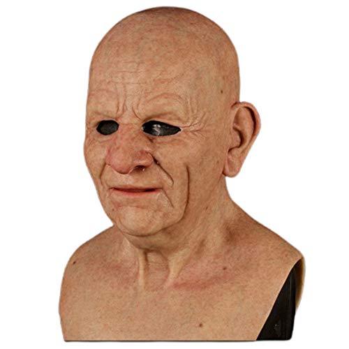 Bestevery Realista Máscara de Anciano de Halloween, Máscara Facial Realista Máscara De Anciano, Máscara de Miedo de Halloween, Máscara de látex Vestido De Halloween, Fiesta De Disfraces