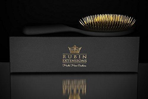 Haarbürste speziell für Haarverlängerung/Haarextensions goldene Extensions Bürste Brush - Made in Germany aus FSC Holz