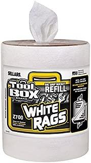 Sellars Wipers & Sorbents 70321 Toolbox Z700 Big Grip Bucket Refill, White Rags (Pack of 6)