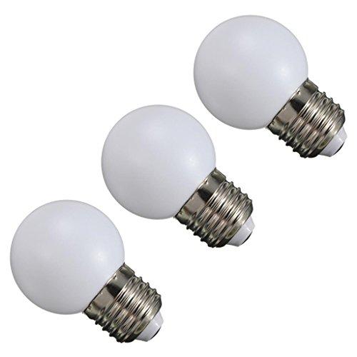 Gazechimp 3pcs 220V 1W E27 G45 Bombilla Redonda LED Bola de Golf Lámpara de Tapa de Luz Blanco Cálido