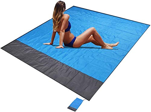 Outdoor Picnic Beach Blanket,Extra Large Waterproof Lightweight Quick Drying Heat Resistant Sand Free Beach Blanket Mat for Travel, Camping, Hiking