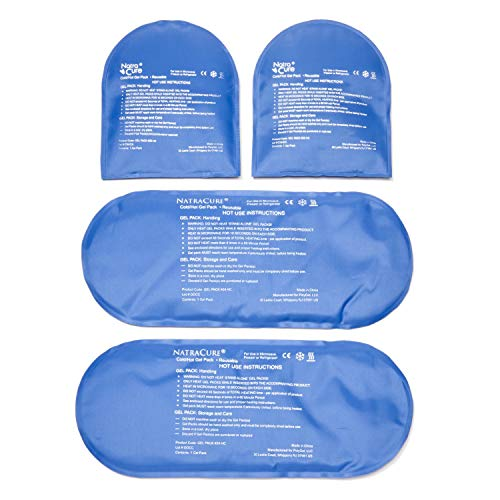 NatraCure Replacement Gel Packs for Cold Therapy Socks - (4-Piece Set) Extra Reusable Ice Pack Compresses for Injuries - GP23-24
