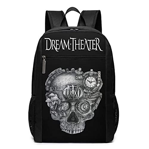 XCNGG Dream Theater Mochila de gran tamaño para portátil de 17 pulgadas Mochila escolar para viajes de negocios Moda informal unisex