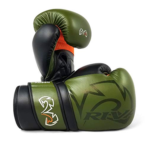 RIVAL RS80V Impluse Sparring Guanti Kaki Green Bag Pads Mitts Boxing Training (16oz)