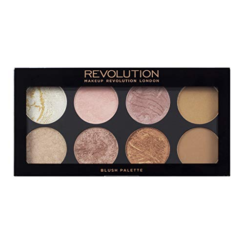 Makeup Revolution Palette, Blush Bronze Highlighter Makeup, Compact Palette, Face Make Up Golden Sugar 2 Rose Gold