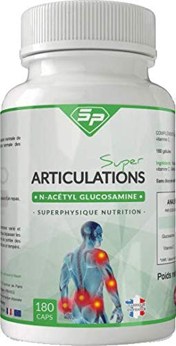 SUPER ARTICULATIONS contre les douleurs articulaires • 100% N-Acétyl-D-Glucosamine • PROUVÉ SCIENTIFIQUEMENT • Made in France - Pour TROIS MOIS