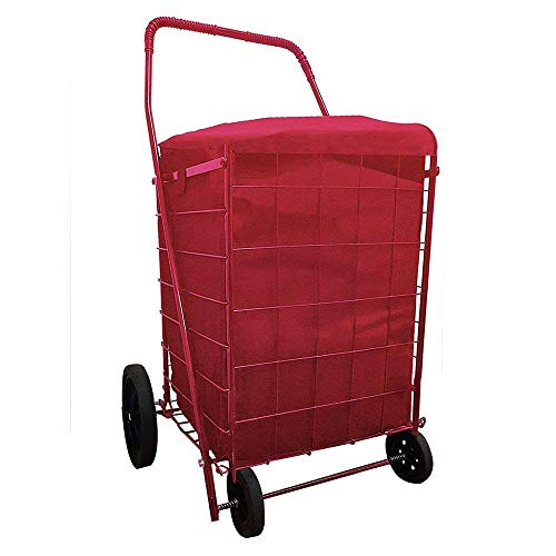 ucostore Folding Shopping CART Liner with Cover,Water Proof (Liner ONLY) (RED)
