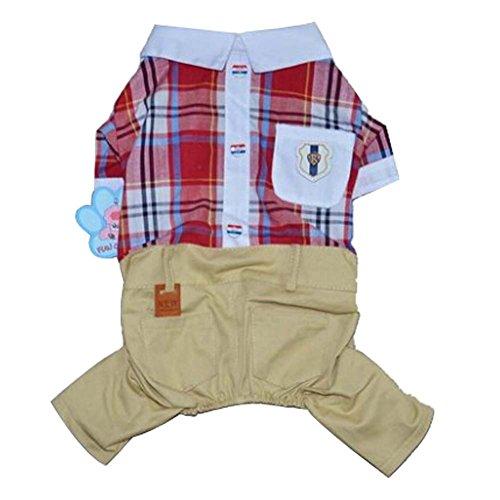 Loisirs Animaux Vêtements Pantalon de costume kaki et T-shirt, de petite taille