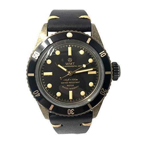 Walter Mitt Sea Diver Acciaio Bronzo Automatico Nero Pelle Orologio Unisex