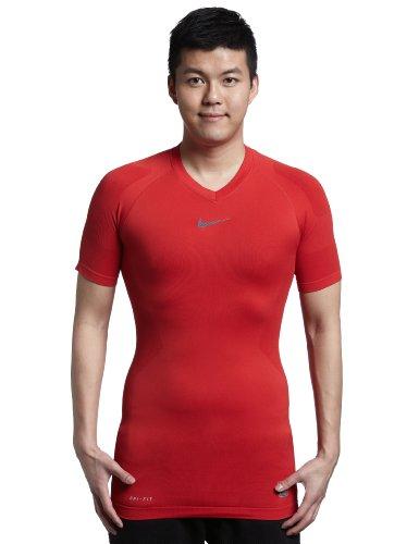 Nike T-Shirt à Manches Courtes Pro Combat Hypercool Vapor sans Coutures pour Homme XL Rouge