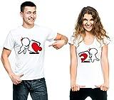 t-shirteria Coppia T-Shirt Innamorati Puzzle - Love - Valentine's Day - Idea Regalo per Il Tuo...