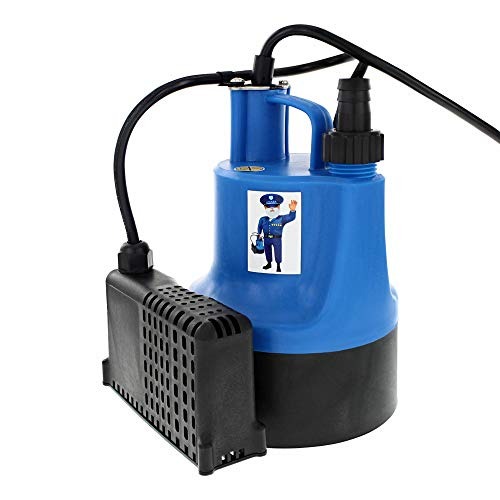Mastercraft 1/6 HP Utility Pump with Auto On/Off Operation and 740 GPH Capacity for Water Removal from Flooded Basements, Hot Tubs Pools, Ponds, Flat Roofs and More