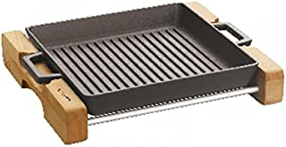 PADERNO - Grill Pan Cm 26x26 With Stand Cast Iron