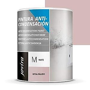 ANTICONDENSACION Antihumedad Antimoho, anti-condensacion antimoho exterior-interior. Soluciona problemas de condensación por humedad ambiental (750 ML, ROSA PALIDO)