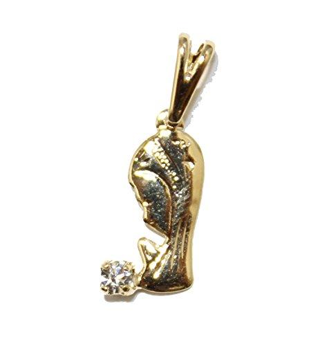 Medalla Madonna con circonita chapada en oro de 18 quilates con cadena de 45 cm