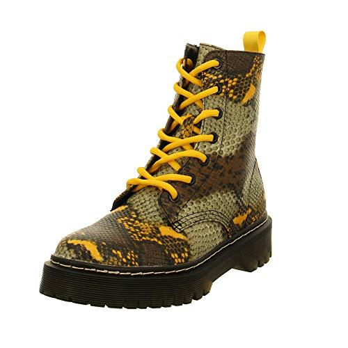 La Strada Damen Stiefeletten 1988056 Snake Yellow Animal 756037