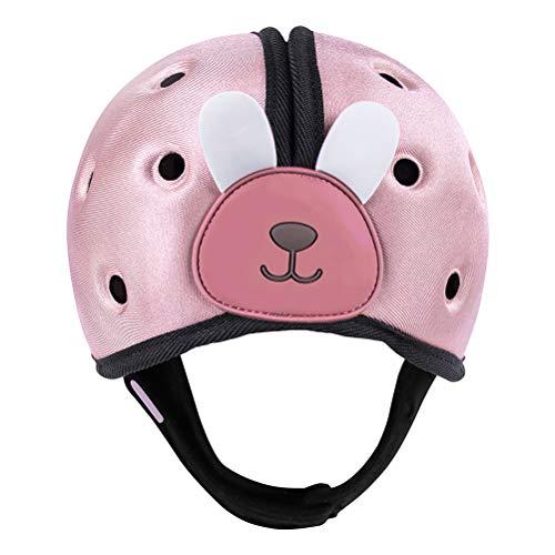 Casco de bebé para niños, Sombrero Protector para niños pequeños, Sombrero de algodón Protector para la Cabeza, Casco de Seguridad Ajustable para niños y niñas