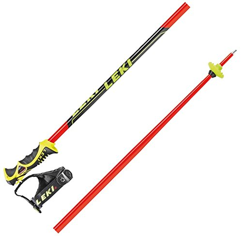 Leki Worldcup SL-TBS - Bastón de esquí Unisex, Unisex, Worldcop SL – TBS, Unisex, 636-6775, Neon Red, 120 cm