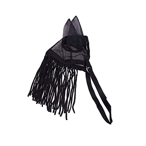 netproshop Fliegenfransen mit Feinmaschigen Ohren und Elastischem Verschluss Gr. Pony-XLFull, Groesse:Full, Farbe:Schwarz
