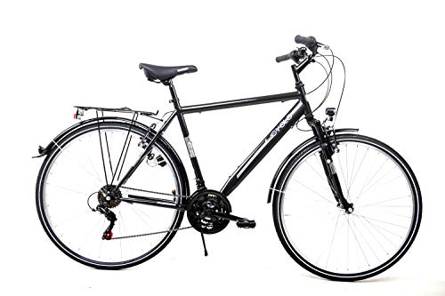 28 Zoll Fahrrad Trekking City Bike Herren 18 Gang Shimano STVZO schwarz RH55