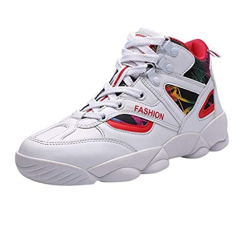 Precioul Sportschuhe hohe Schuhe Farbabstimmung tragen Laufschuhe Herren Fitness straßenlaufschuhe Sneaker Sportschuhe atmungsaktiv Rutschfeste Mode Freizeitschuhe