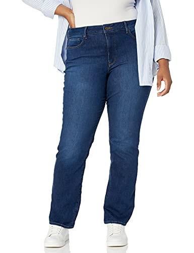 NYDJ Marilyn Damen-Jeans mit geradem Bein, Übergröße - Blau - 46