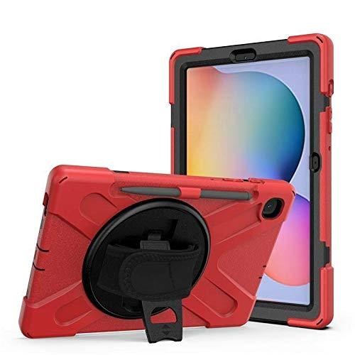 Case2go - Funda para Samsung Galaxy Tab S7 (2020) - SM-T870 / SM-T875 / SM-T876 - Carcasa resistente a los golpes con soporte giratorio - Rojo