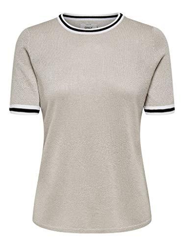 ONLY Damen ONLKAMILLA 2/4 KNT NOOS Pullover, Pumice Stone, M