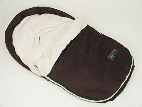 AltaBeBe AL2630S-06 - Saco para asiento de coche, color marrón y blanco
