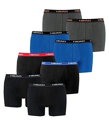 HEAD Men Boxershort 841001001 Basic Boxer 8er Pack, 2x Peacoat/Orange 2x Blau, XL