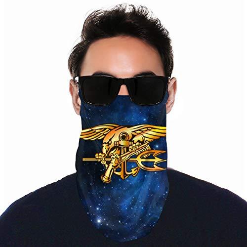 QsuNa Us Navy Trident Seal - Protector facial unisex para pasamontañas ✅