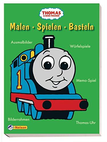 Thomas und seine Freunde - Malen, Spielen, Basteln: Ausmalbilder, Würfelspiele, Memo-Spiel, Bilderrahmen, Thomas-Uhr